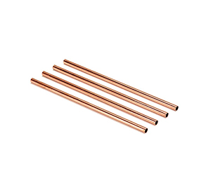 Copper Drinking Straws Set of 4