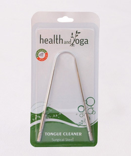 HealthAndYoga (TM) S S Tongue Cleaner Surgical Quality