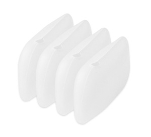 Tooth Brush Cover - Silicone - White - Set of 4