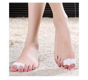 Silicone 2 Loop Toe-Separator | Relief for Overlapping Toes | 1 Pair